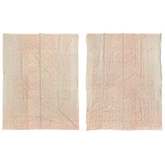 Pair of Mid-20th Century Fortuny Fabric Panels with Custom Seaming