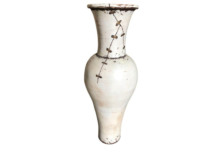 Pair of Mid-20th Century French Ceramic Vases For Sale 3