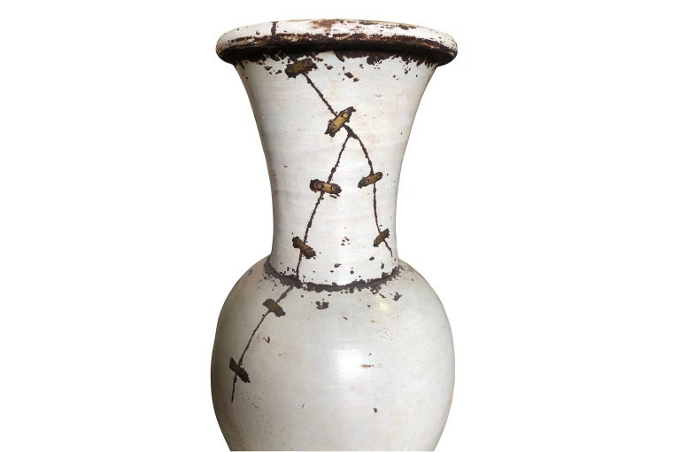 Pair of Mid-20th Century French Ceramic Vases For Sale 4