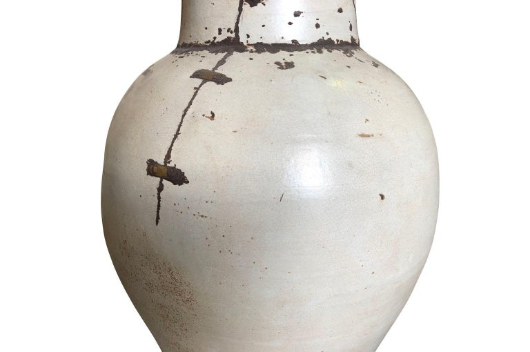 Pair of Mid-20th Century French Ceramic Vases For Sale 6