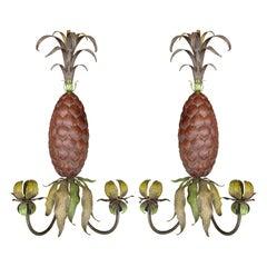 Pair of Mid-20th Century Italian Pineapple Sconces