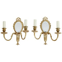 Pair of Mid-20th Century Ormolu Wall Lights