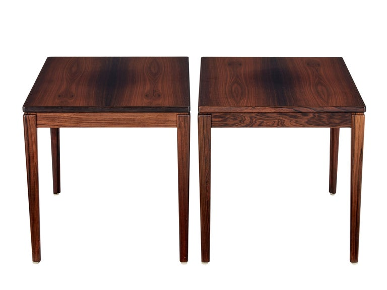 Mid-Century Modern Pair of Mid-20th Century Palisander Side Tables by Ulferts Möbler For Sale