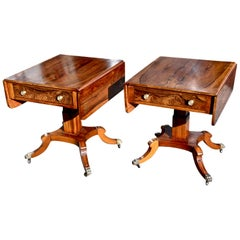 Pair of Mid-20th Century Rosewood Regency Style End Tables