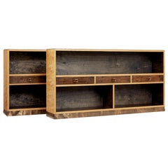 Pair of Mid-20th Century Scandinavian Low Open Bookcases