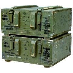 Pair of Mid-20th Century Swedish Pine Ammo Boxes