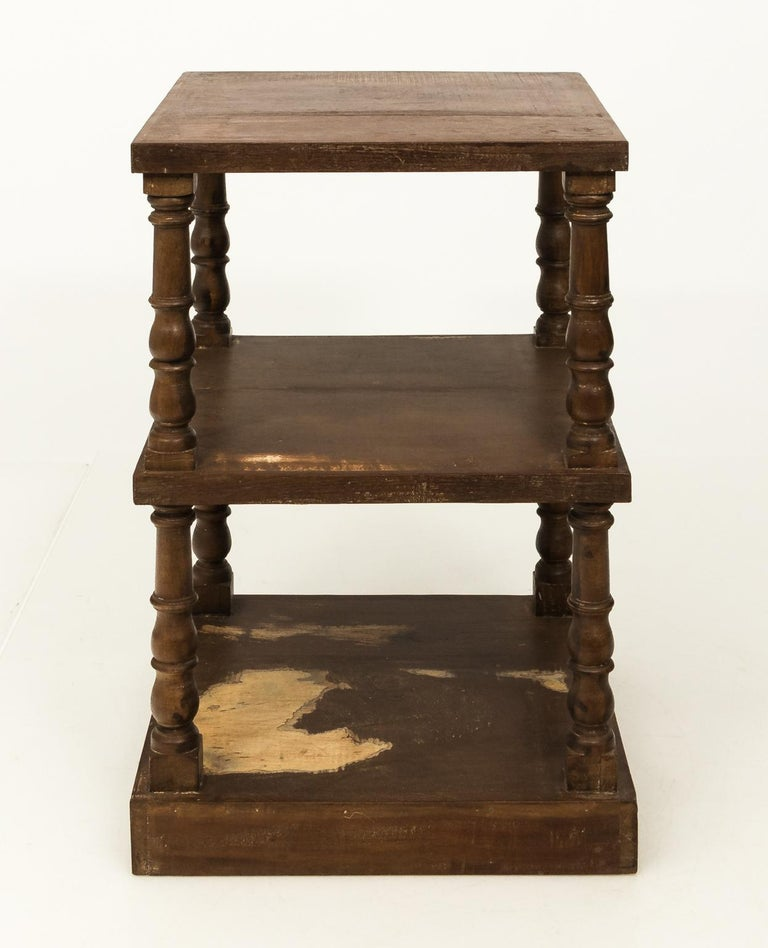 Wood Pair of Mid-20th Century Three-Tier What Not Étagères For Sale