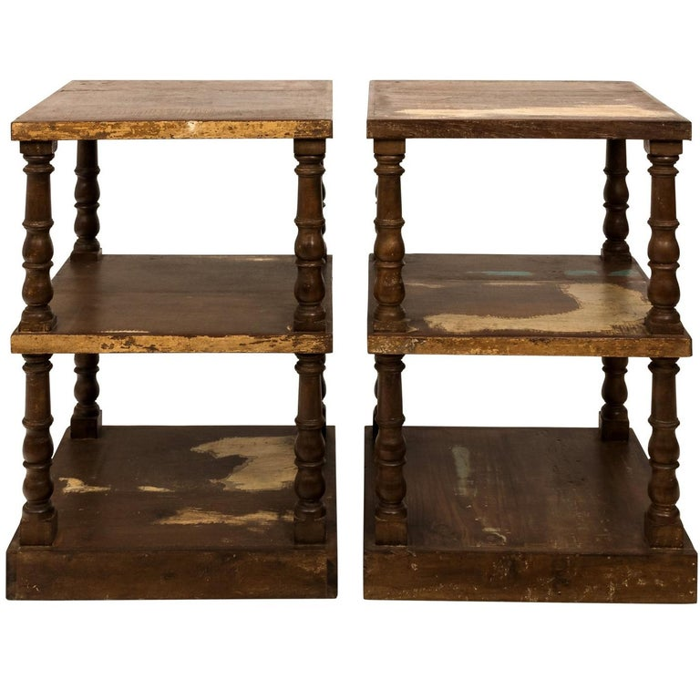 Pair of Mid-20th Century Three-Tier What Not Étagères For Sale