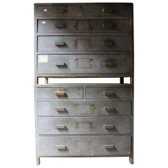 Pair of Painted English Art School Chests of Drawers, circa 1940-1955