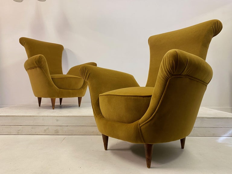 Unusual shaped armchairs