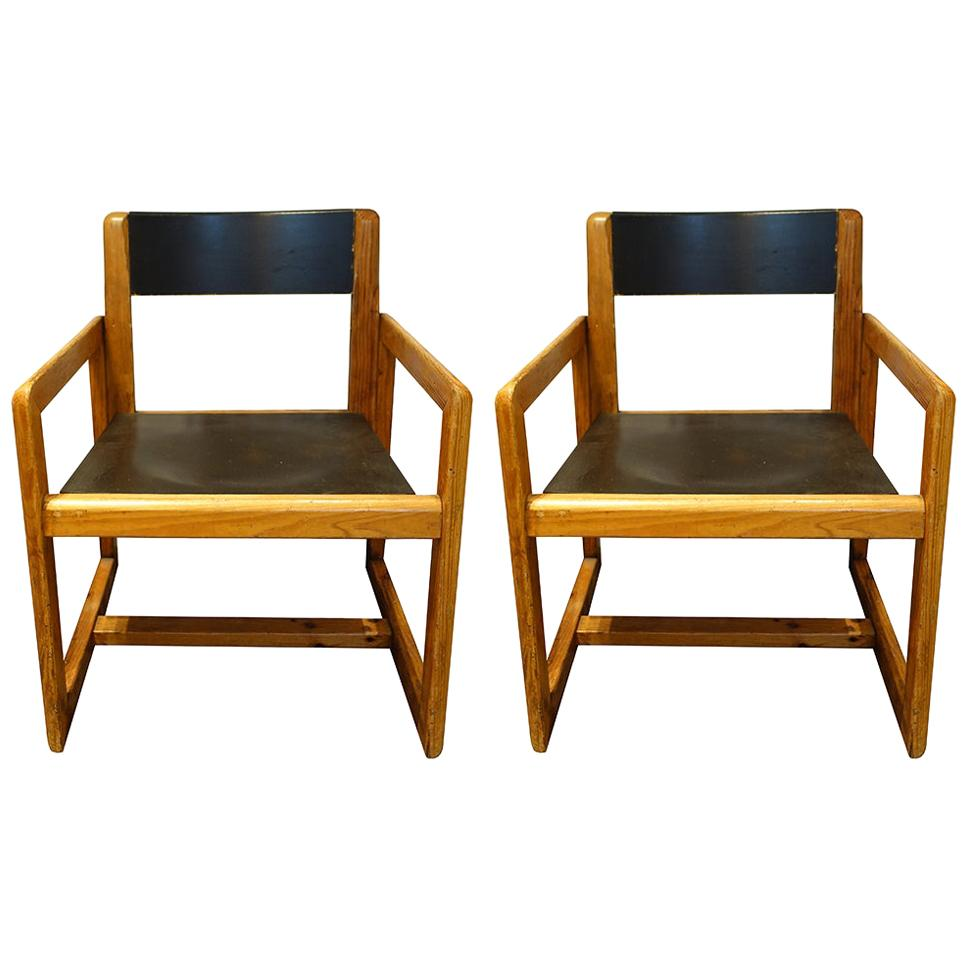 Pair of Mid-Century André Sornay Armchairs, France, circa 1960s