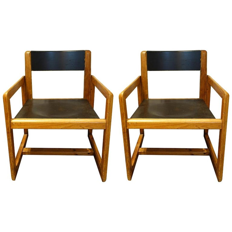 Pair of Mid-Century André Sornay Armchairs, France, circa 1960s For Sale
