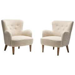 Pair of Mid-Century Armchairs by a Swedish Cabinetmaker, Sweden, ca 1950s