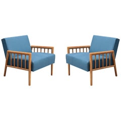 Pair of Midcentury Armchairs by Conant Ball Furniture Co