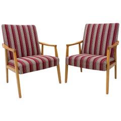 Pair of Mid Century Armchairs, Czechoslovakia, 1960s