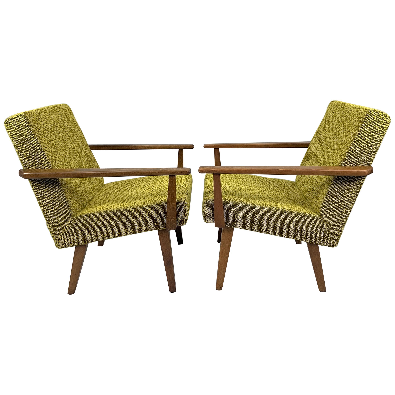 Pair of Midcentury Armchairs, Czechoslovakia, 1960s