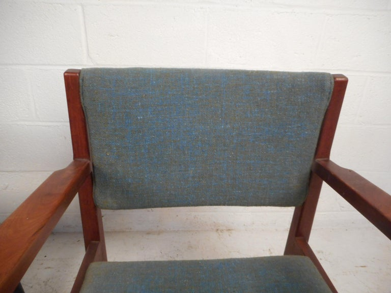 Upholstery Pair of Midcentury Armchairs For Sale