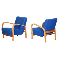 Pair of Mid Century Armchairs Made in Czechia 1930s, Collaboration with Halabala