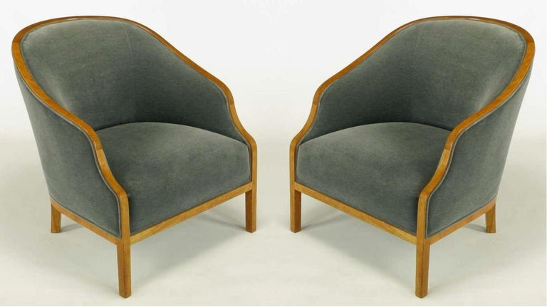 Mid-Century Modern Pair of Midcentury Bankers Lounge Chairs by Ward Bennett For Sale