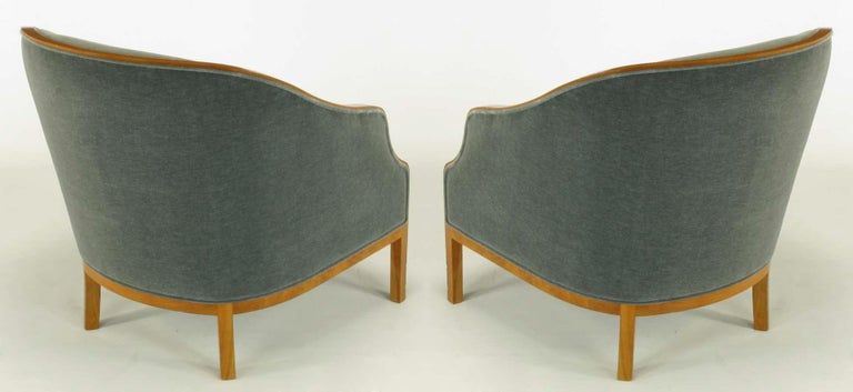Pair of Midcentury Bankers Lounge Chairs by Ward Bennett In Good Condition For Sale In Dallas, TX