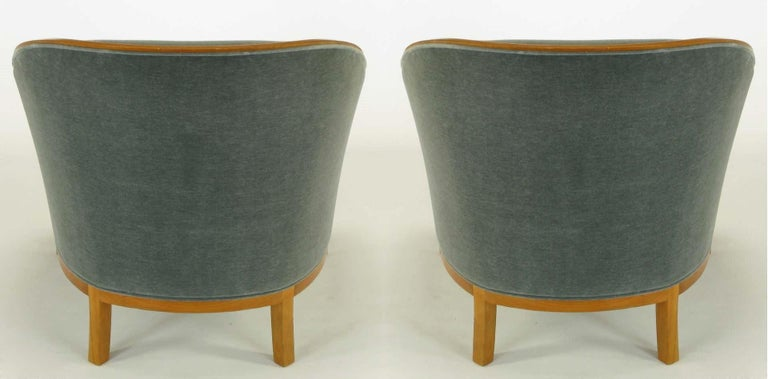 Mid-20th Century Pair of Midcentury Bankers Lounge Chairs by Ward Bennett For Sale