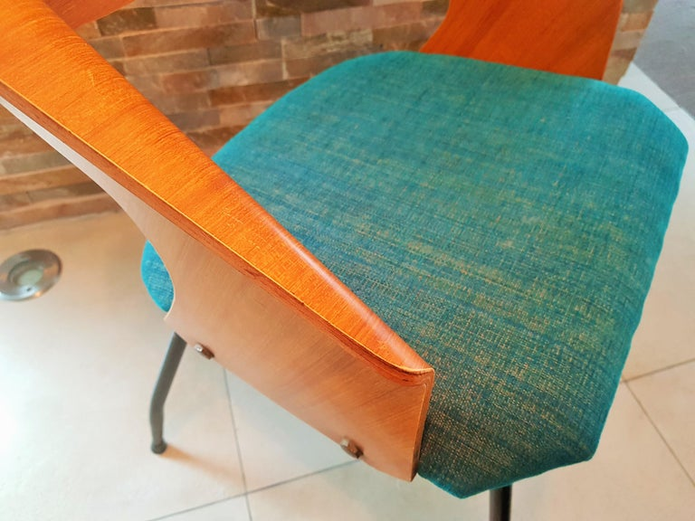 Pair of Midcentury Bentwood Chairs Carlo Ratti for Legni Curvi, Italy, 1950s For Sale 3
