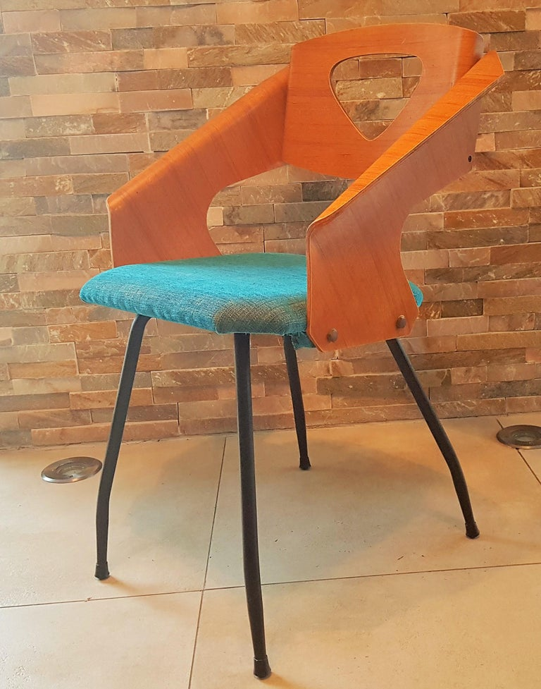 Pair of Midcentury Bentwood Chairs Carlo Ratti for Legni Curvi, Italy, 1950s For Sale 6
