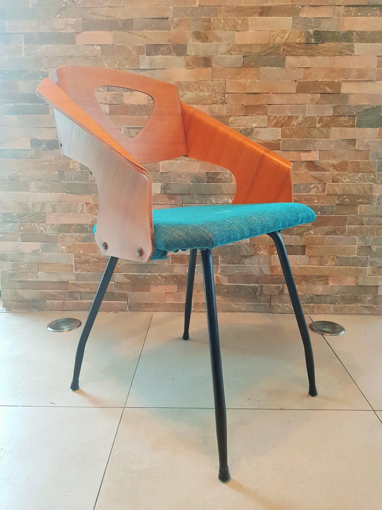 Pair of Midcentury Bentwood Chairs Carlo Ratti for Legni Curvi, Italy, 1950s For Sale 12