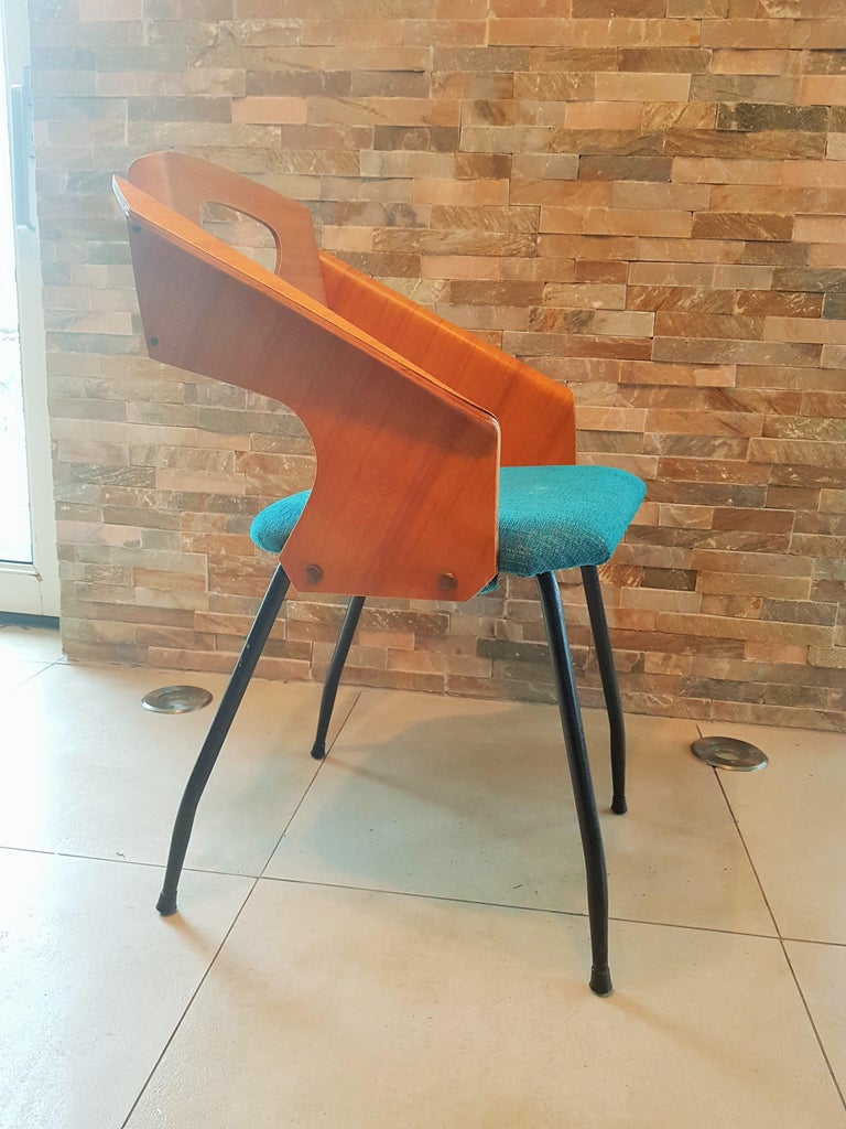 Pair of Midcentury Bentwood Chairs Carlo Ratti for Legni Curvi, Italy, 1950s For Sale 13