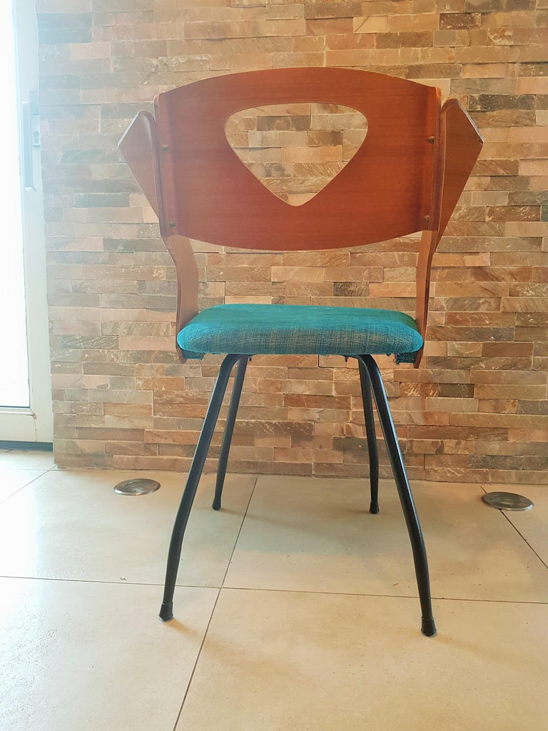 Italian Pair of Midcentury Bentwood Chairs Carlo Ratti for Legni Curvi, Italy, 1950s For Sale
