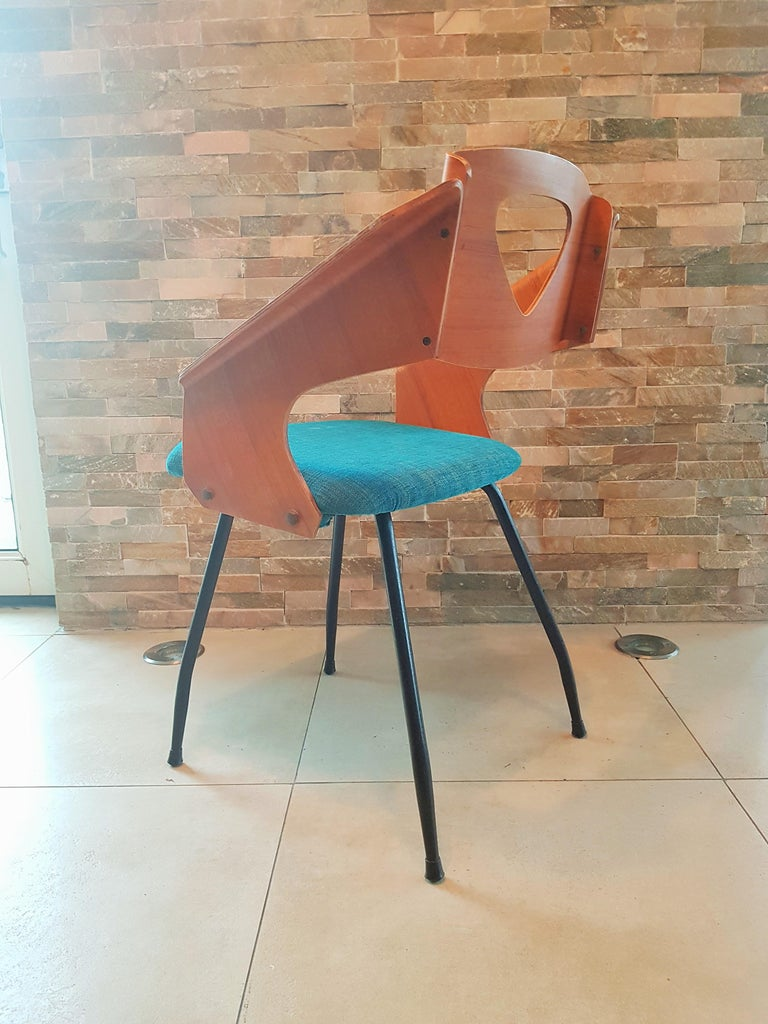 Pair of Midcentury Bentwood Chairs Carlo Ratti for Legni Curvi, Italy, 1950s In Good Condition For Sale In Saarbruecken, DE