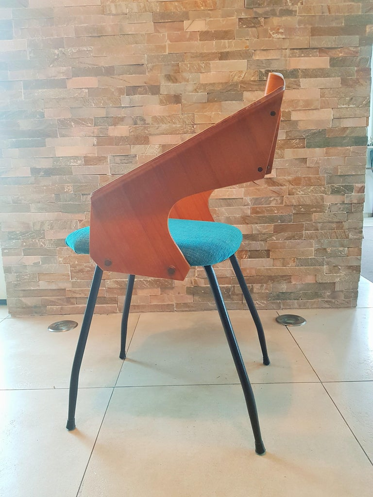 Mid-20th Century Pair of Midcentury Bentwood Chairs Carlo Ratti for Legni Curvi, Italy, 1950s For Sale