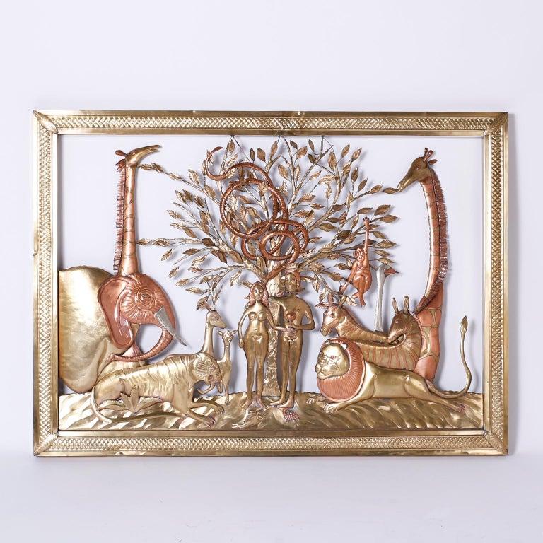 Pair of Midcentury Bustamante Garden of Eden Sculptures, Priced Individually For Sale 2