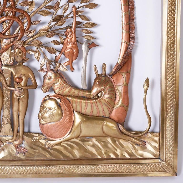 Pair of Midcentury Bustamante Garden of Eden Sculptures, Priced Individually For Sale 5