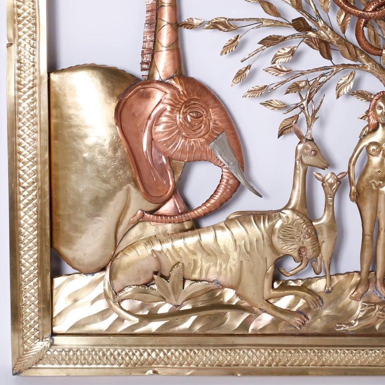 Pair of Midcentury Bustamante Garden of Eden Sculptures, Priced Individually For Sale 6