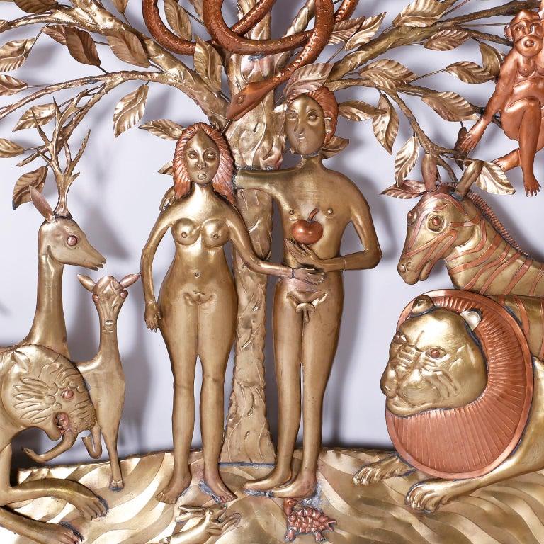 Pair of Midcentury Bustamante Garden of Eden Sculptures, Priced Individually For Sale 8