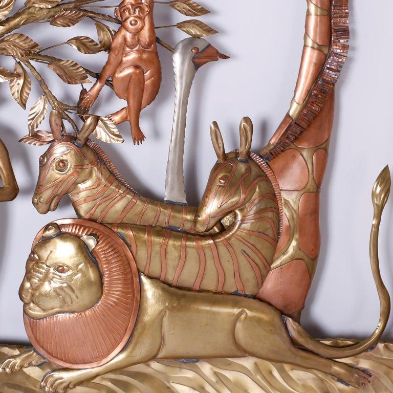 Pair of Midcentury Bustamante Garden of Eden Sculptures, Priced Individually For Sale 9