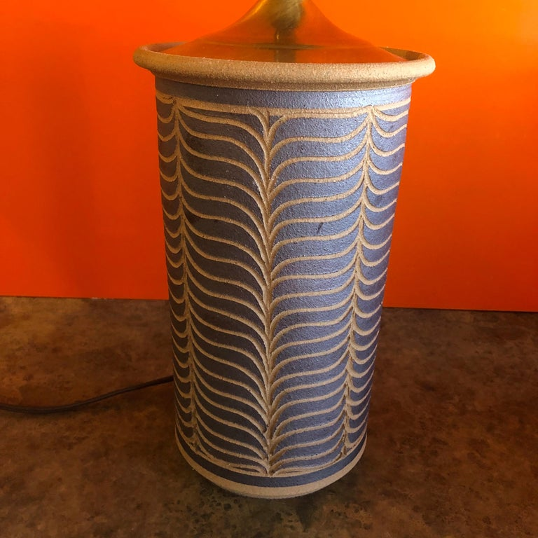 Mid-Century Modern Pair of Midcentury California Studio Pottery Table Lamps For Sale