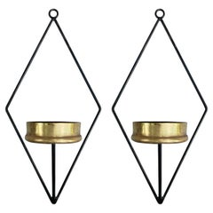 Pair of Mid-Century Candle Sconces