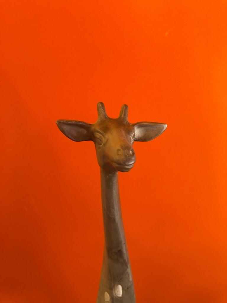 Pair of Midcentury Ceramic Giraffes by McFarlin Freeman Pottery For Sale 4