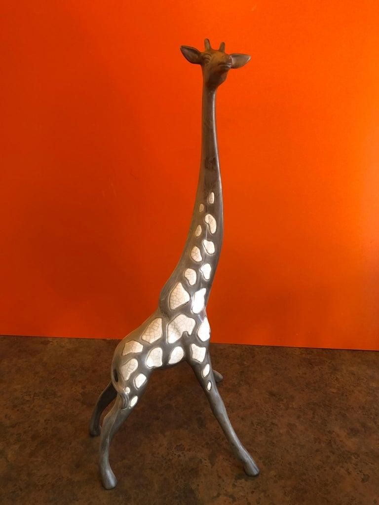 20th Century Pair of Midcentury Ceramic Giraffes by McFarlin Freeman Pottery For Sale