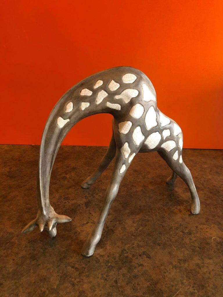 Pair of Midcentury Ceramic Giraffes by McFarlin Freeman Pottery For Sale 2