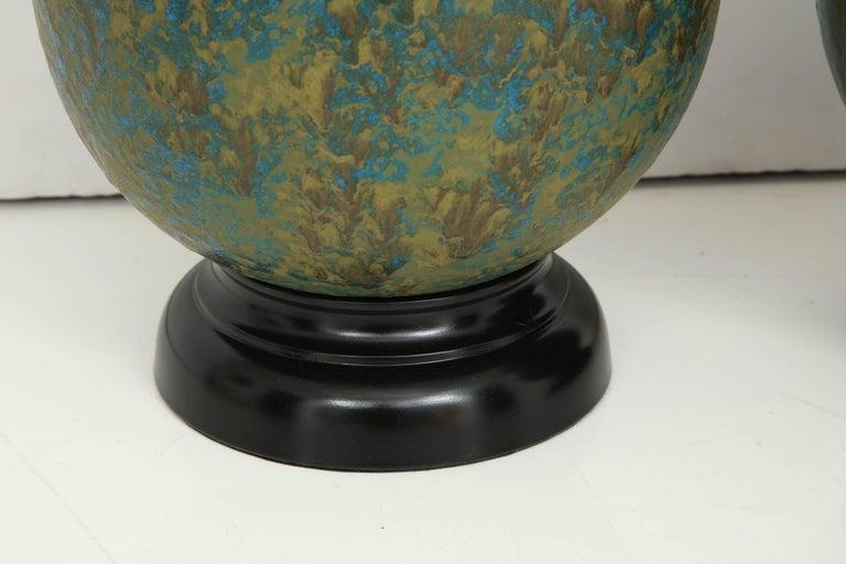 Mid-20th Century Pair of Italian Ceramic Lamps For Sale