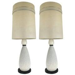 Pair of Mid-Century Ceramic Table Lamps