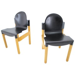 Pair of Midcentury Chair Flex Designed by Gerd Lange for Thonet, Germany, 1970s