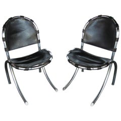 Pair of Midcentury Chairs by Tetrarch Bazzani Intl Studio FINAL CLEARANCE SALE