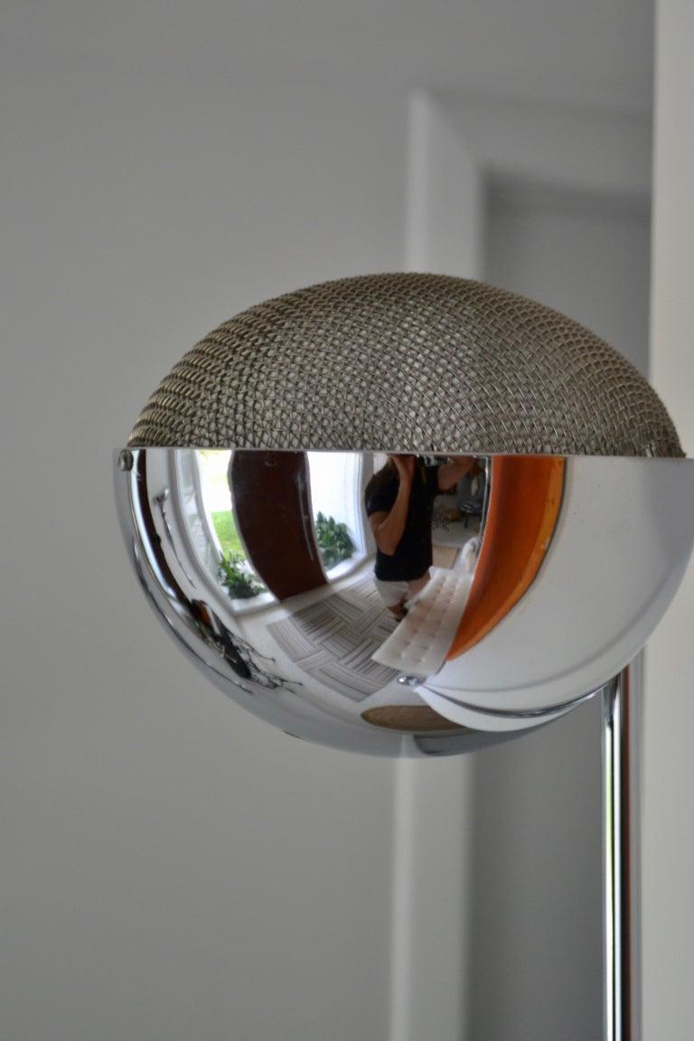 Pair of Midcentury Chrome Floor Lamps 5