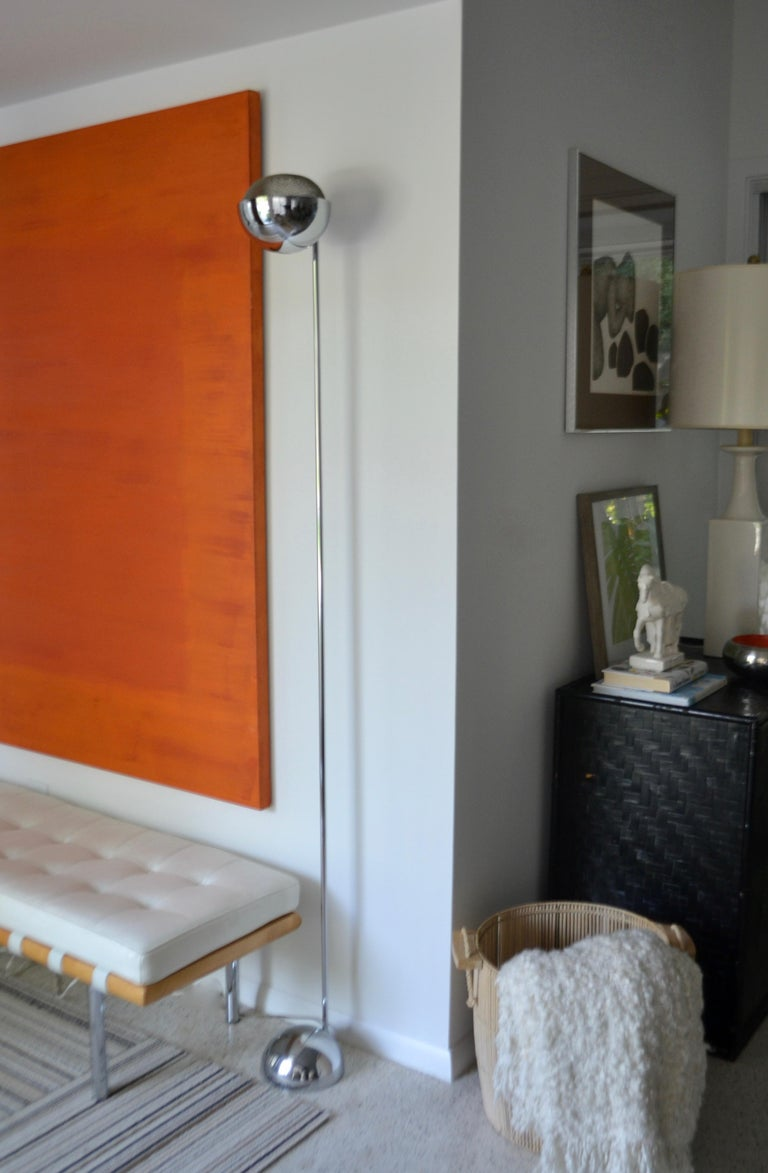 Pair of Midcentury Chrome Floor Lamps 9