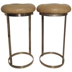 Pair of Midcentury Chrome Stools