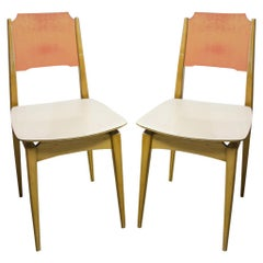 Pair of Midcentury Color Chairs, 1960s, Czechoslovakia
